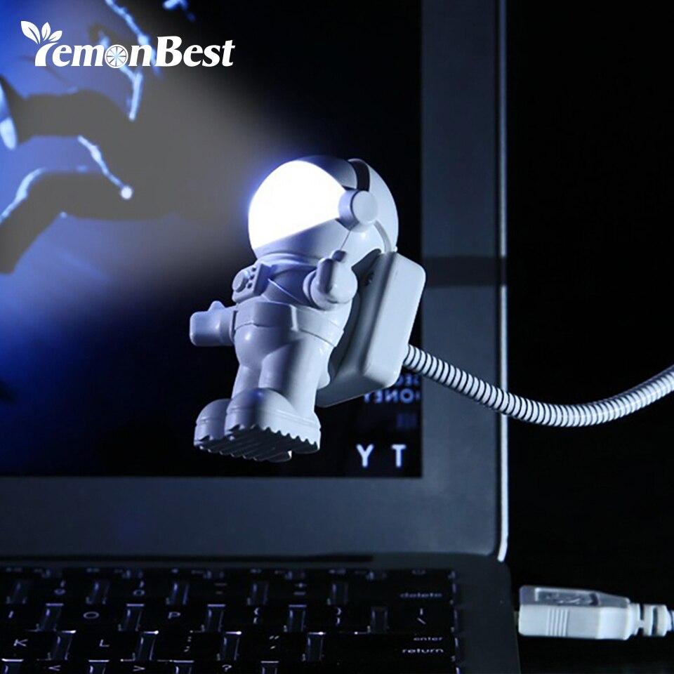Kreative Flexible Geführte Schreibtischlampe Flexible Usb Augenschutz Tastatur Lesen Licht Nachttischlampe Astronaut Hause Wohnzimmer Decor Tropf-Trocken Schreibtischlampen Licht & Beleuchtung