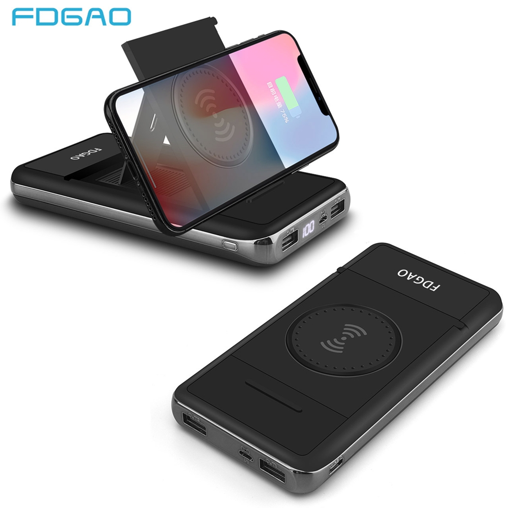 31a87357079e5a Fdgao Wireless Charger Power Bank 20000mah Qi Dual USB External Battery  Powerbank For iPhone XS Max