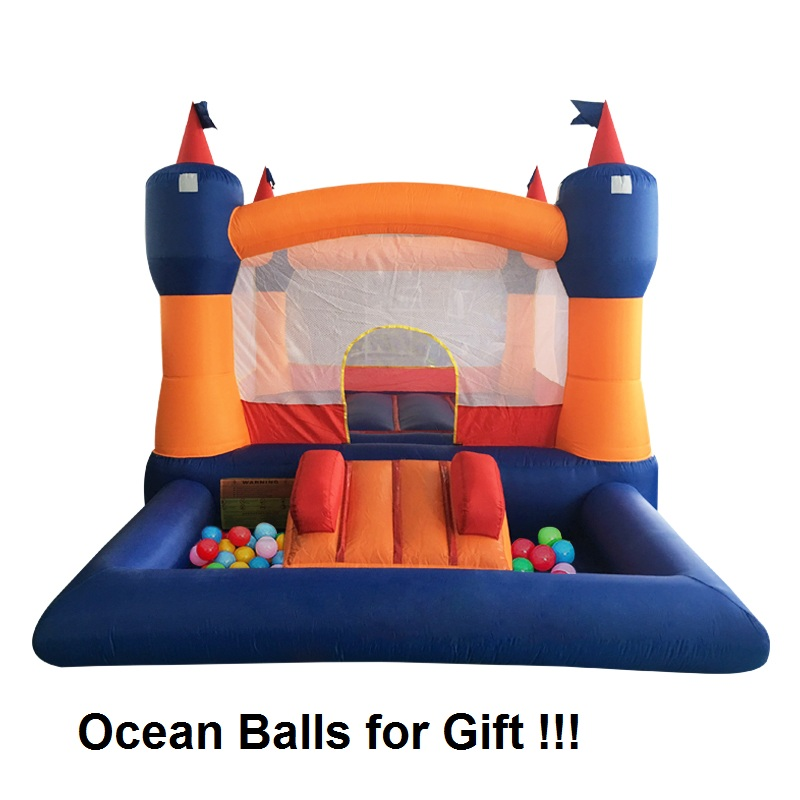 Outdoor and Indoor Inflatable Bouncer Bouncy Castle with Balls Pit Inflatable Jumping Castle with Free Ocean Balls for Kids funny summer inflatable water games inflatable bounce water slide with stairs and blowers