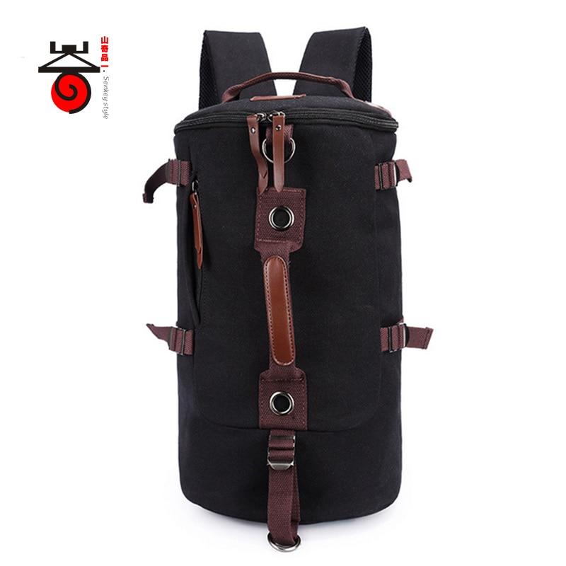 ФОТО Senkey style 2017 Vintage Fashion Rucksack Men's Canvas Backpack MULTIFUNCTION Leisure Travel Backpack Men Laptop Backpacks bag
