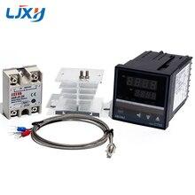 Controlador de temperatura LJXH REX C700 termopar de entrada Universal salida SSR/Termopar Tipo K/relé de estado sólido/disipador de calor