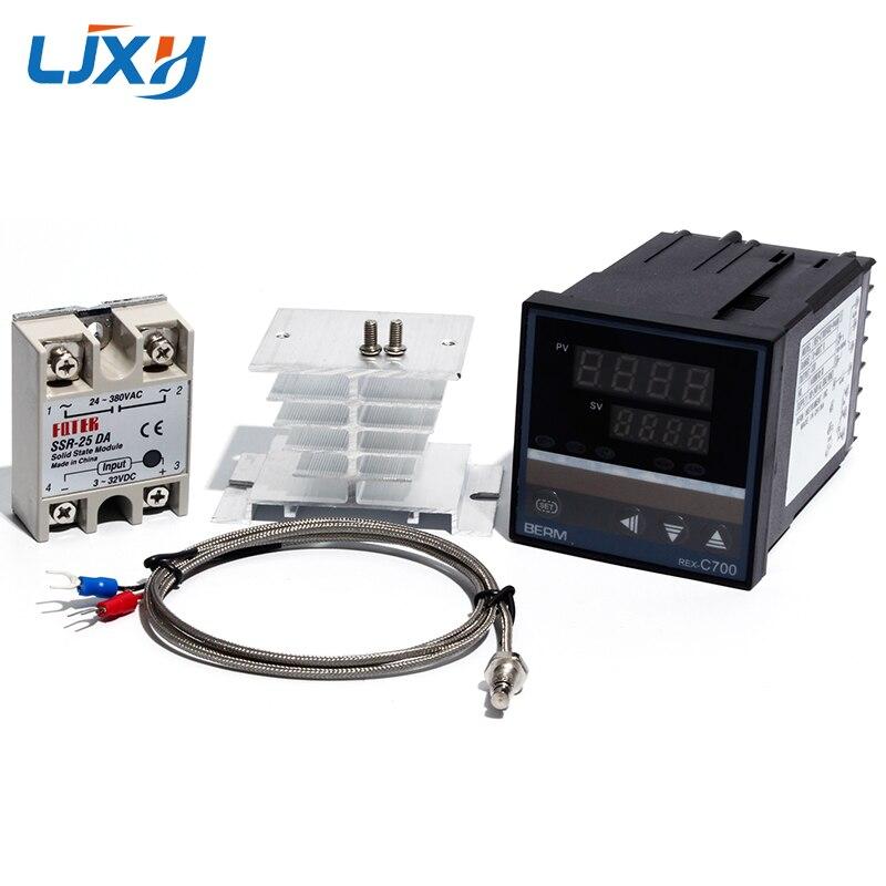 LJXH регулятор температуры, Универсальный вход, термопара, выход SSR, Тип K, термопара, твердотельные реле, радиатор|Запчасти для электроводонагревателей|   | АлиЭкспресс