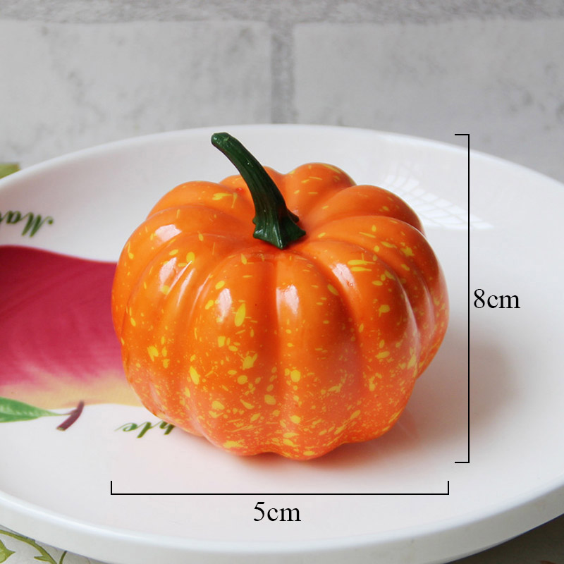 1 Pc Simulation Pumpkin Model Yellow Green 2 Color Fake Fruits And Vegetables Props Foam Fruit Dish Decoration