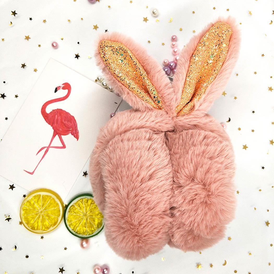 New Winter Cozy Ear Warmers Headband Cute Rabbit Ear-shaped Ear Muffs For Earmuffs Earmuffs Sequin Women