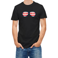 T Shirt USA Flag Glasses Summer O Neck Hipster Tops Top Tee Casual Short Sleeve Selling