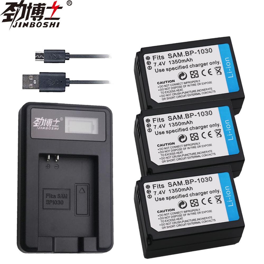 3Packs 1350mAh BP1030 BP-1030 BP-1130 BP 1130 Battery + LCD USB Single Battery <font><b>charger</b></font> for <font><b>SAMSUNG</b></font> NX200 NX210 <font><b>NX1000</b></font> L103 image