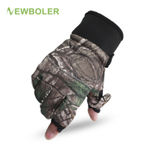 NEWBOLER Winter Fishing Gloves Durable Full/2 Half Finger Gloves Waterproof Hunting Camping Anti Slip Gel Outdoor Sports Gloves