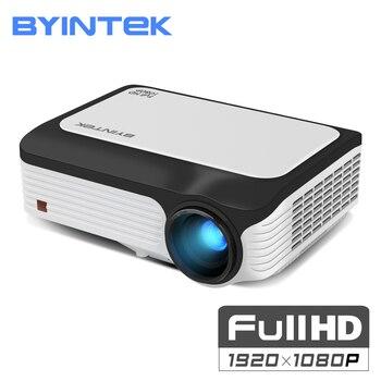 BYINTEK Luna M1080 FULL HD 1080 p portátil Mini proyector LED 1920x1080 LCD de vídeo de 200 pulgadas LCD para casa teatro juego de cine de la película