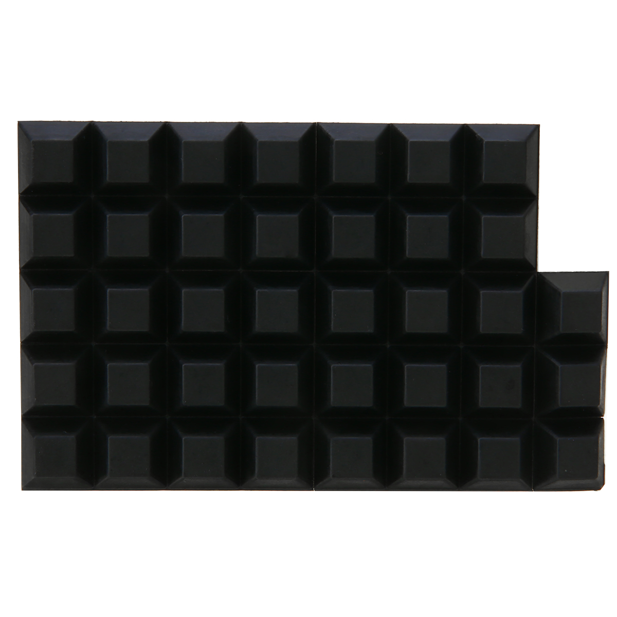 40pcs/Bag Home Self Adhesive Rubber Buffer Pads Black Silicone Bumper Stop Anti Slip Door Buffer Pad Home Cabinet Accessory Tool