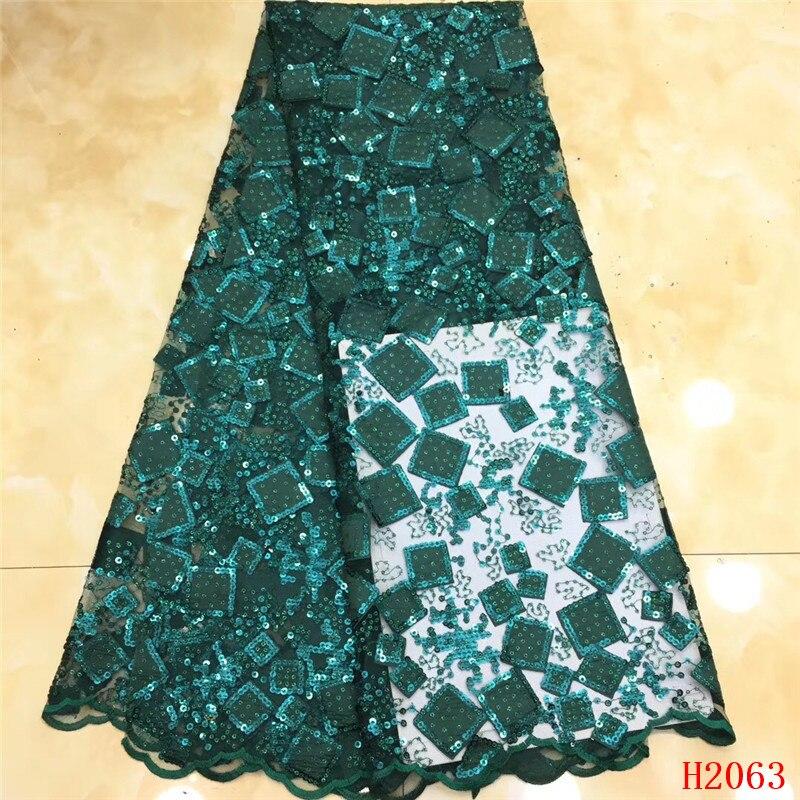 Paillettes dentelle tissu dernier nigéria broderie diamants conception dentelle française africaine Tulle Net dentelle tissu pour mariage HX2063