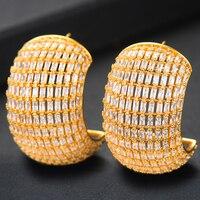 GODKI Trendy Charms Multicolor Cubic Zircon CZ Statement Earrings Korean Elegant Womens Stud Earring boucle d'oreille femme 2019
