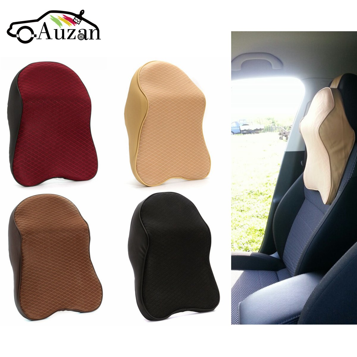 Car Seat Headrest Pad Memory Foam Neck Pillow Head Neck Rest Support Cushion Travel For Renault/VW/FORD/AUDI/BWM/Mazda Universal