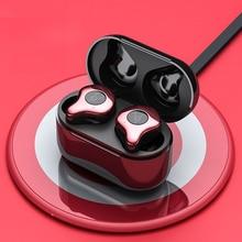 Шабаш E12 Bluetooth 5,0 True Беспроводной наушники Бег наушники Handsfree 3D стерео звук наушники зарядки коробка для телефона X12