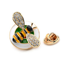 Wuli&Baby Stamp Enamel Bee Collar Pins For Women Alloy Insects Children Gifts Suit Pins Brand Jewelry(China)