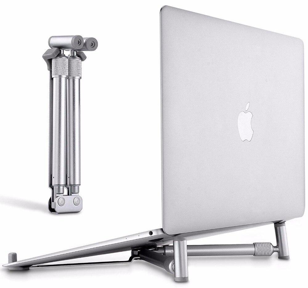 Aluminium Portable Foldable Laptop Stand Adjustable Ergonomic Notebook Riser Ventilated Cooling Holder for MacBook Pro Air Mini