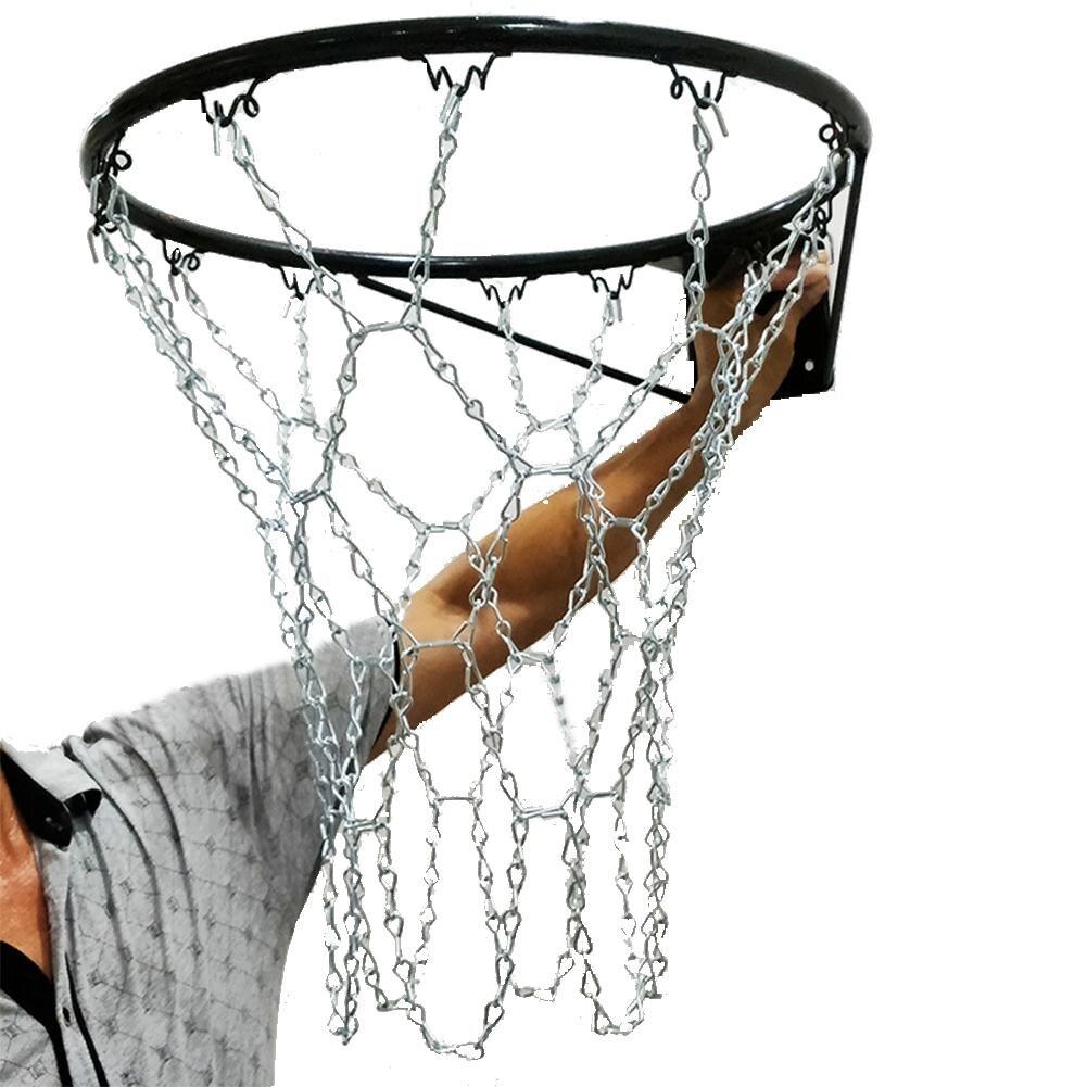 Heavy Duty Metal Chain Basketball Net With 12 S-hooks  Tighten Hooks Rustproof Galvanized Iron