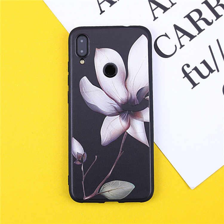 Keren Indah 3D Relief Bunga Phone Case untuk Samsung A20E A20 A10 A40 A30 A50 A60 A70 M40 S10 PLUS s10E S10 E Girly Silicon Case