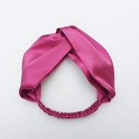 Kobiety Silk Turban Twist New Vintage Dziewczyna Hairband Pałąk Headwrap