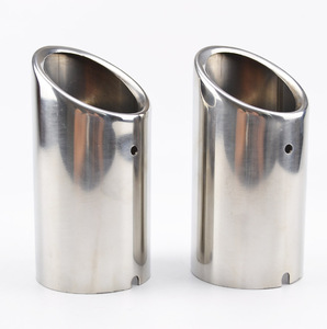 Image 2 - 2pc Exhaust Muffler Tips For VW Polo 6R Bora Golf 5 6 7 Mk7 Scirocco 1.4T Tiguan 1 Tail Pipe Tailpipe Finisher End Trim Cover