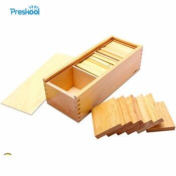 Montessori tablero de peso bebé juguete Baric Tablets con caja educación temprana educación preescolar aprendizaje juguetes gran regalo