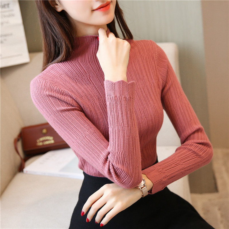 new women's clothing joker turtleneck knitting render unlined upper garment of 28 1 ranked no. 4 on the second floor
