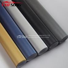 Powietrzny udrażniacz czarny srebrny niebieski szczotkowany Aluminium Vinyl Film metaliczny szczotkowany samochód naklejka winylowa rozmiar: 10/20/30/40/50/60x15 2 CM/LOT