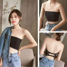 New Brassiere Sexy Adjustable Chest Wrap Comfortable Ice Silk Bottoming Comfortable Underwear Strapless Ladies Bra Vest(China)