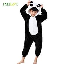 Новинка 2017 года теплые детские пижамы для девочек пижама для мальчиков комбинезон детские пижамы, кошка стежка Panda Косплей Пижама