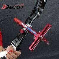 Archery Recurve Aluminum Bow Sights Laser Micro Adjust Optical Fiber Micro Optic Sight flecha Hunting 1 Pins Shooting
