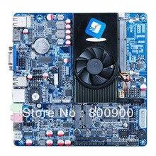 D2550 ITX motherboard LVDS 12VDC input lvds 48BIT POS machine advertising MINI ITX HTPC Motherboard with D2550