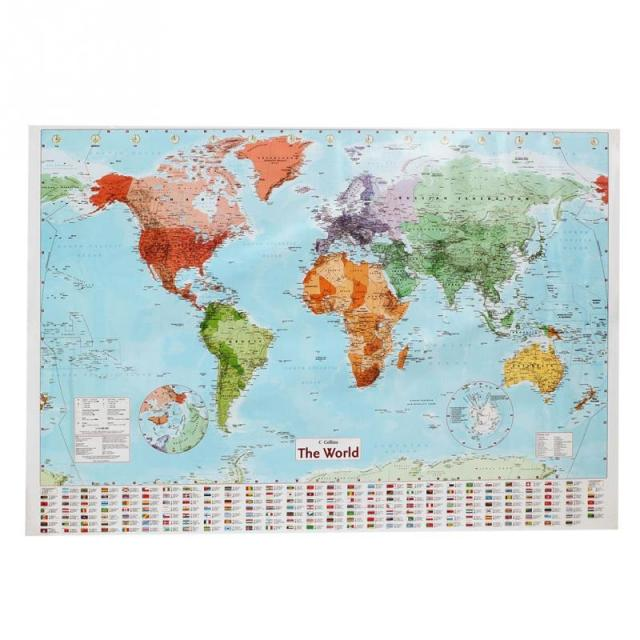 Waterproof world map Big Large Map Of The World Poster with