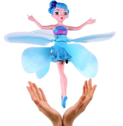 Заводской MJD индукции Летающая мне Миньон фея кукла радио Управление вертолет мини Drone Quadcopter Drone детей игрушки