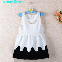 Free Shipping 2014 Summer New Girls Dress Bow Princess Dress Children Lace Dress Kids Noble Fairy