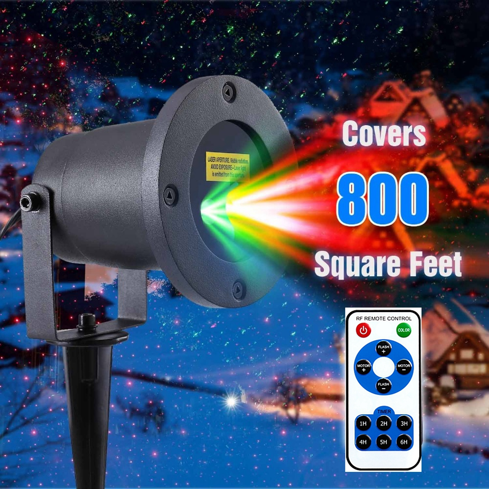 Red Blue Green Prime Laser Holiday Light Projector
