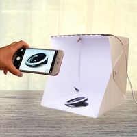 """Cadiso lumière LED Portable pliant Studio Diffuse boîte souple 24 cm 9 """"noir blanc Mini photographie fond Photo Studio lightbox"""
