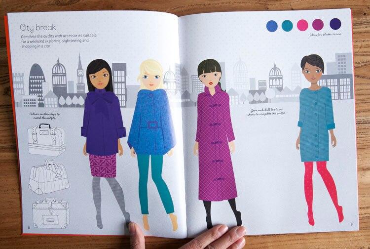 Big Sale Ab43 1 Pcs The New Four Seasons Fashion Designer Autumn Colloction Princess Dress Sticker Books Girls Gifts For Children Cicig Co