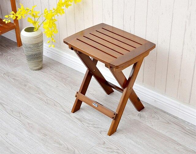 Bambú multifuncional silla taburete plegable asiento para niños ...