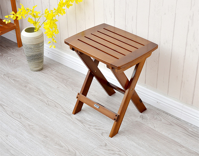 Multifunctional Bamboo Folding Stool Chair Seat For Kids Fishing Garden Furniture Small Portable
