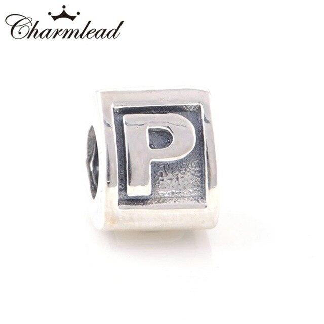 abalorios pandora letra p