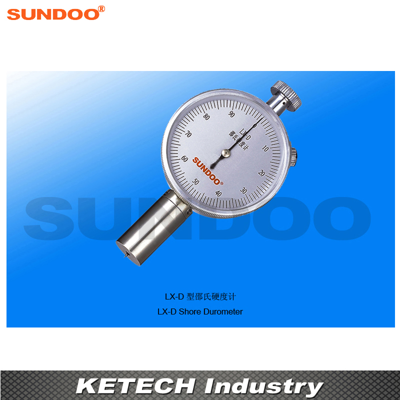 Sundoo LX-D Pointer Durometer For Hard Rubber, Resin,Glass, Printed Board, Fiber common hard rubber meter shore d hardness tester with single pointer analog sclerometer lx d 1 shore durometer gauge