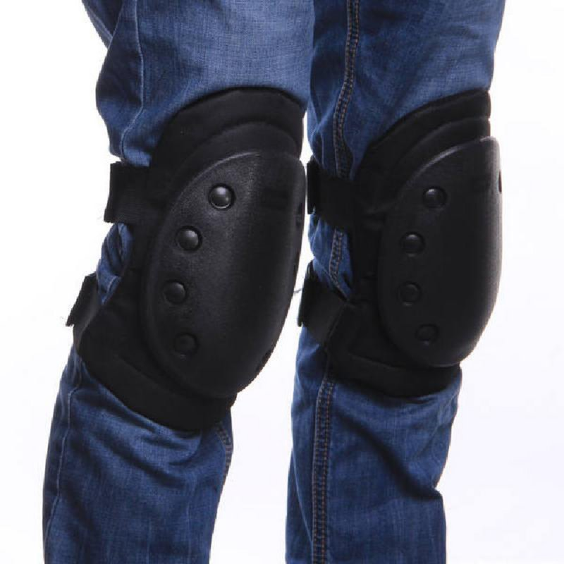 Adults 4Pcs Tactical Protective Knee Pad Elbow Support Airsoft Paintball Combat Knee Protector Hunting Skate Scooter Kneepads