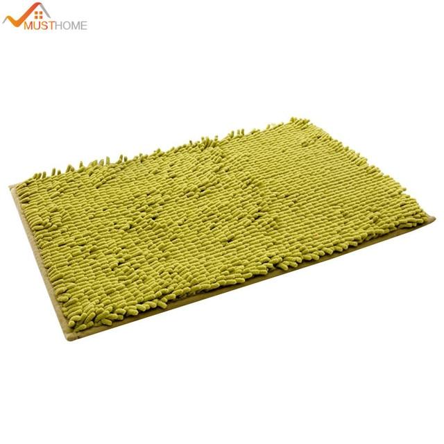 40*60cm microfiber bath mat anti slip bathroom rug shower toilet