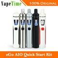 100% original joyetech ego vape kit aio 1500 mah batería ego starter kit 1500 mah batería rápida all-in-uno e cigarrillo electrónico