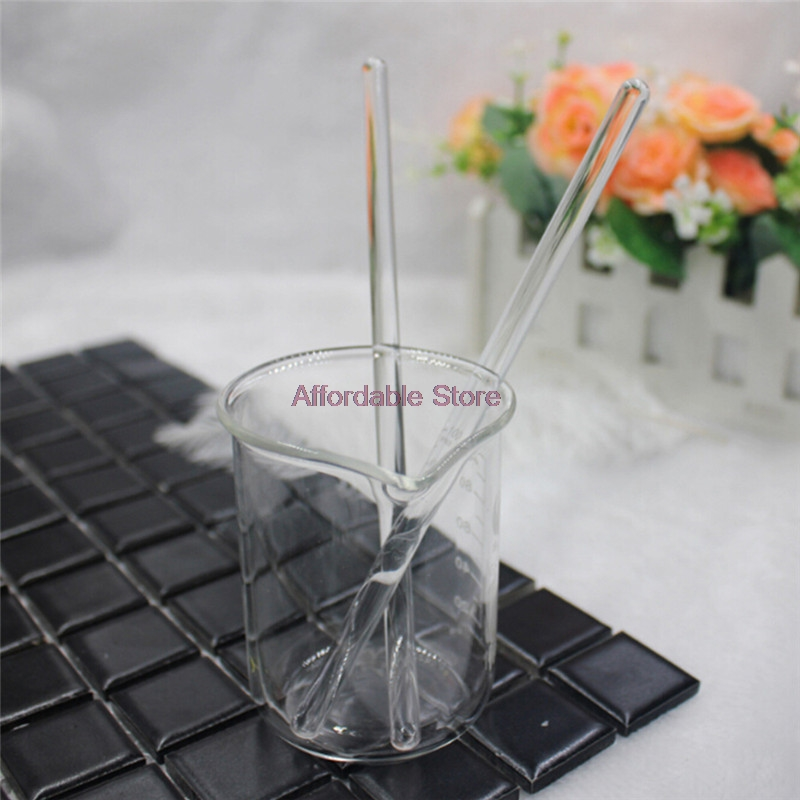 15CM Lipsticks Glass Stirring Rod Round Head Transparent Glass Stirring Bar Solid Length 15cm Lipstick Stirring Stick Tool  P13