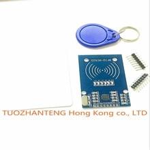 10PCS MFRC-522 RC522 RFID RF card sensor module to send S50 Fudan card, keychain usb raspberry pi