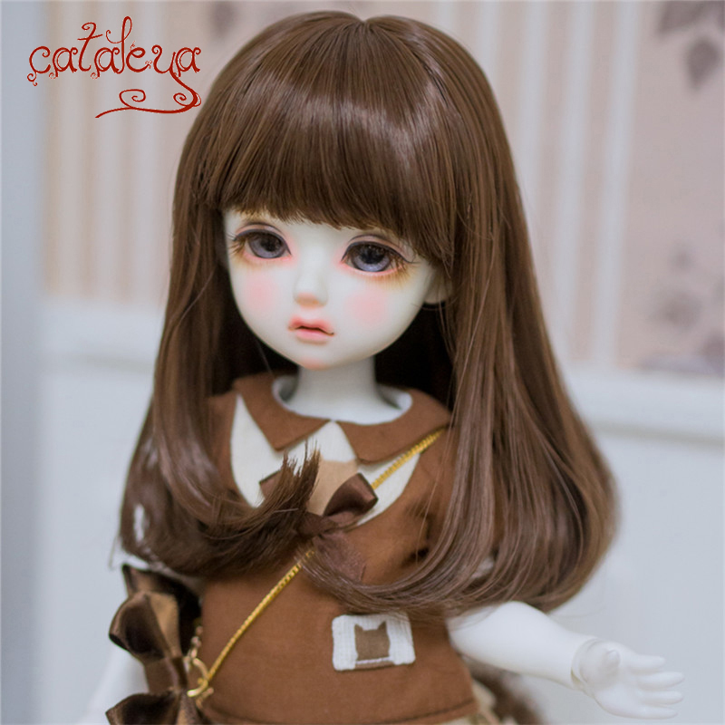 Cataleya BJD SD Doll Hair Can DIY Hair Long Straight Hair The End Is Slightly Curled 1/3 1/4 Doll Accessories Wig Free Shipping