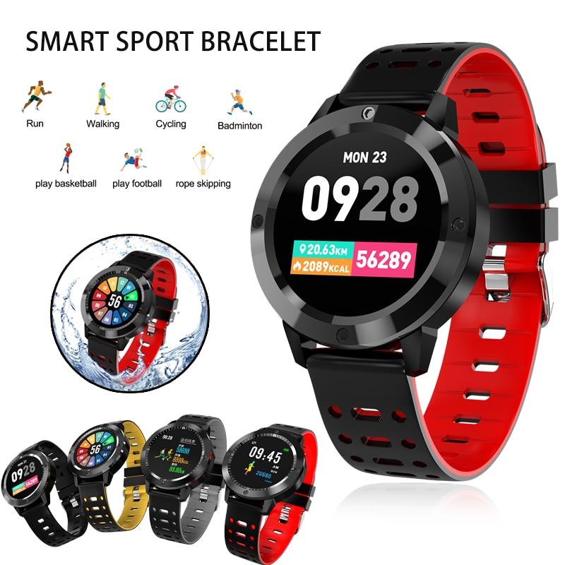 Sportuhren Herrenuhren GüNstig Einkaufen Smart Uhr 30 M Wasserdichte Cf58 Gehärtetem Glas Aktivität Fitness Tracker Heart Rate Monitor Sport Männer Frauen Smartwatch Montre
