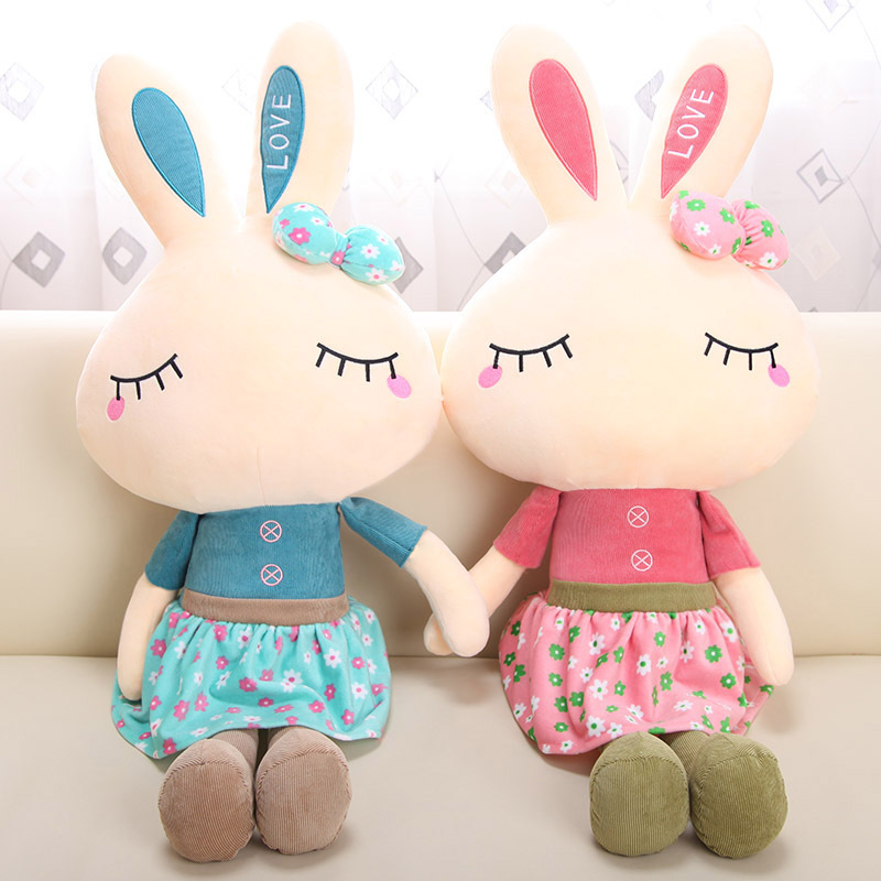 KAWO 70cm High Cartoon Creative Skirt Kanin Pillow Plush Dolls Toy Gift For Girl