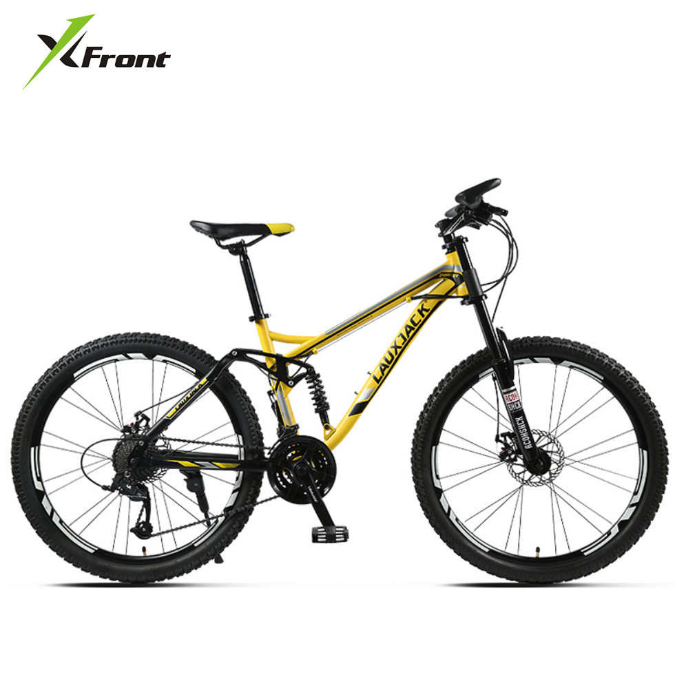 New Brand Mountain Bicycle Carbon Steel Soft Tail Frame Dual Disc Brake 27 Speed Suspension Front Fork Bike Downhill Bicicleta
