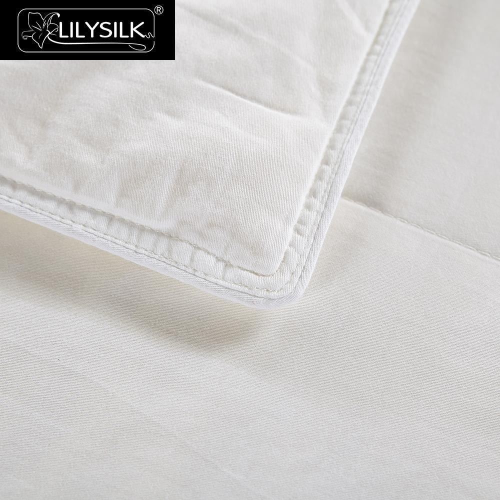 Image 3 - LilySilk Comforter Duvet Silk Washable Cotton Covered 100 pure and natural long strand silk floss Free Shippingsilk comfortersilk flosspure silk comforter -